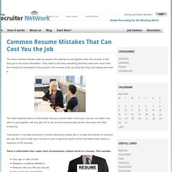 Common Resume Mistakes That Can Cost You the Job