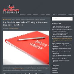 Top Five Mistakes When Writing A Restaurant Employee Handbook