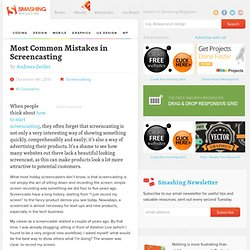 Most Common Mistakes in Screencasting