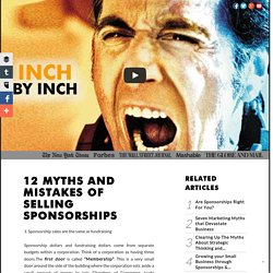 12 Myths and Mistakes of Selling Sponsorships by Sylvia Allen