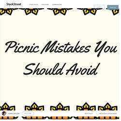 What Mistakes Should You Avoid During Picnic?
