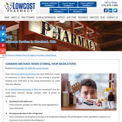 Common Mistakes When Storing Your Medications