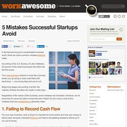 5 Mistakes Successful Startups Avoid