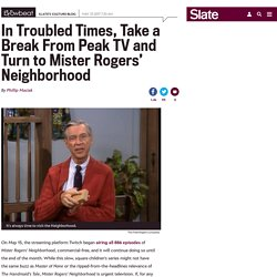 Mister Rogers Neighborhood is streaming free on Twitch for all of May.