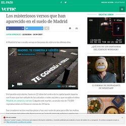 Los misteriosos versos que han aparecido en el suelo de Madrid
