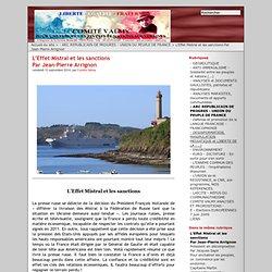 L'Effet Mistral et les sanctions Par Jean-Pierre Arrignon
