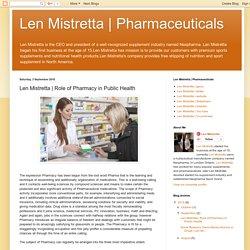 Role of Pharmacy in Public Health