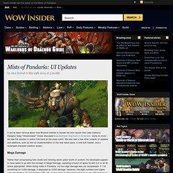 Mists of Pandaria: UI Updates