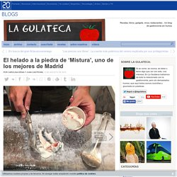 El helado a la piedra de 'Mistura', uno de los mejores de Madrid