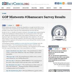 GOP Mistweets #Obamacare Survey Results
