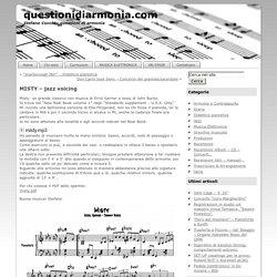 MISTY – jazz voicing