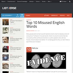 Top 10 Misused English Words