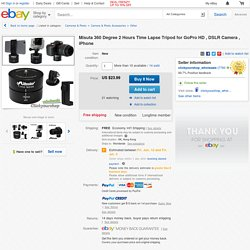 Misuta 360 Degree 2 Hours Time Lapse Tripod for GoPro HD DSLR Camera iPhone