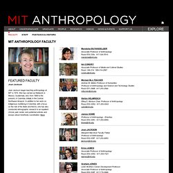 Anthropology - Faculty and Staff