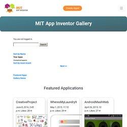 MIT App Inventor Gallery