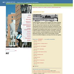 Linguistics home page
