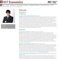 Economics : Chen Lian