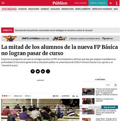 La mitad de los alumnos de la nueva FP Básica no logran pasar de curso