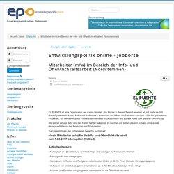 Mitarbeiter (m/w) im Bereich der Info- und Öffentlichkeitsarbeit (Nordstemmen) - epojobs.de