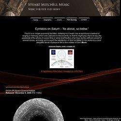 Stuart Mitchell - Saturn's Hexagon Explained with Cymatics