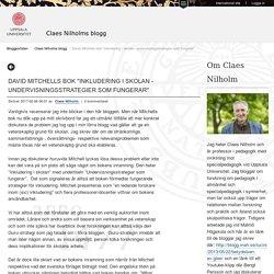 """David Mitchells bok """"Inkludering i skolan - undervisningsstrategier som fungerar"""" - Claes Nilholms blogg"""