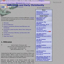 Mithraism and Early Christianity