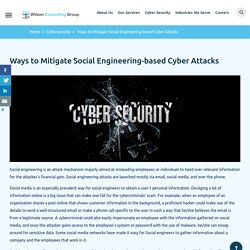 Ways to Mitigate Social Engineering-based Cyber Attacks