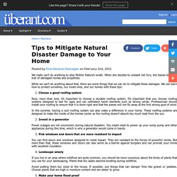 Tips to Mitigate Natural Disaster Damage to Your Home