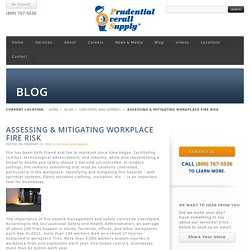 Assessing & Mitigating Workplace Fire Risk