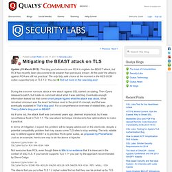 Mitigating the BEAST attack on TLS
