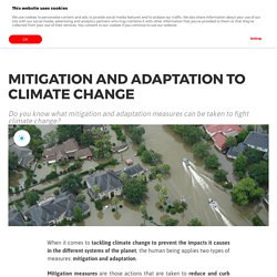 Mitigation and adaptation to climate change