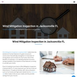 Wind Mitigation Inspection in Jacksonville FL