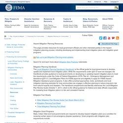 Hazard Mitigation Planning Resources