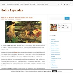 El mito de Narciso, el que se amaba a si mismo