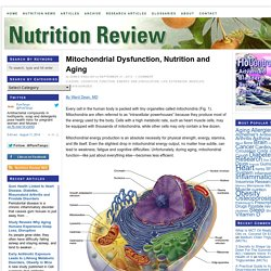 Mitochondrial Dysfunction, Nutrition and Aging