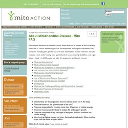 Mitochondrial Disease Action Committee - MitoAction
