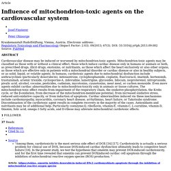 Influence of mitochondrion-toxic agents on the cardiovascular system