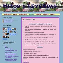 MITOS Y LEYENDAS: ACTIVIDADES