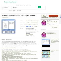 Mitosis and Meiosis Crossword Puzzle by Science from Murf LLC