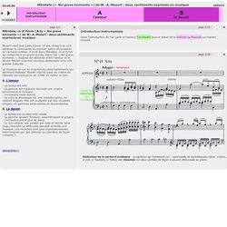 """Mitridate (""""Nel grave tormento"""") de W.-A. Mozart : deux sentiments exprimés en musique"""