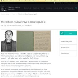 Mitrokhin's KGB archive opens Churchill College