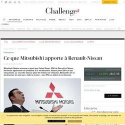 Ce que Mitsubishi apporte à Renault-Nissan - Challenges.fr