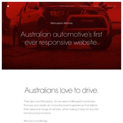 Pollen - Mitsubishi - Australian automotive's first ever responsive website