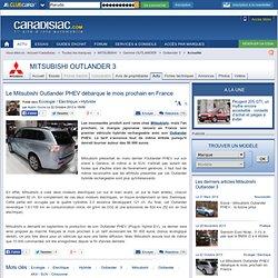 Le Mitsubishi Outlander PHEV débarque le mois prochain en France
