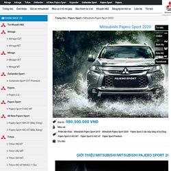 Giá Xe Mitsubishi Pajero Sport 2020 Chính Thức Là Bao Nhiêu?