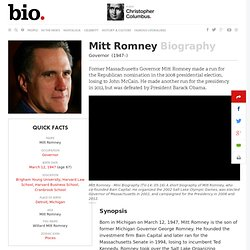Mitt Romney Biography - Facts, Life Story, Video, 2012 Election News