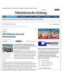 309 Millionen Euro für Hochschulen