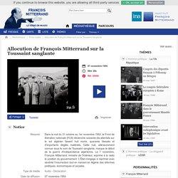 """Video 3-Allocution de Monsieur Mitterrand """"L'Algérie, c'est la France"""""""