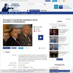 François Mitterrand - Le verbe en images - Premier Conseil des ministres de la première cohabitation