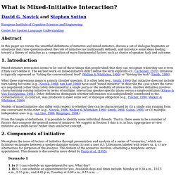 What is Mixed-Initiative Interaction?